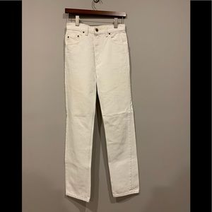 Vintage White Levi's Straight Leg Jeans 28x32
